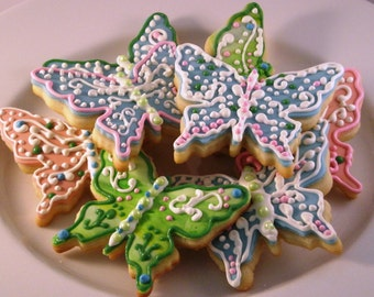 Twelve Butterfly Sugar Cookies