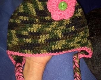 Girl camo hat