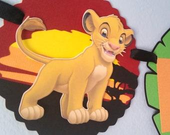 Lion King Birthday Banner, Simba