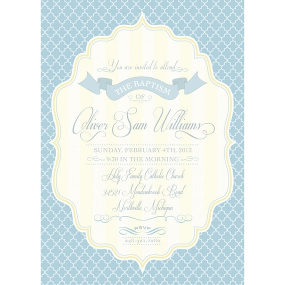 Christening Invitation Cards Templates with great invitation layout