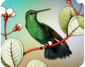 Custom Thick mousepad - Hummingbird 1 - Add your text-Free Shipping