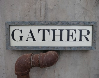 Gather sign (one word sign)