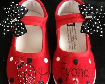 Hand Painted Ladybug Shoes