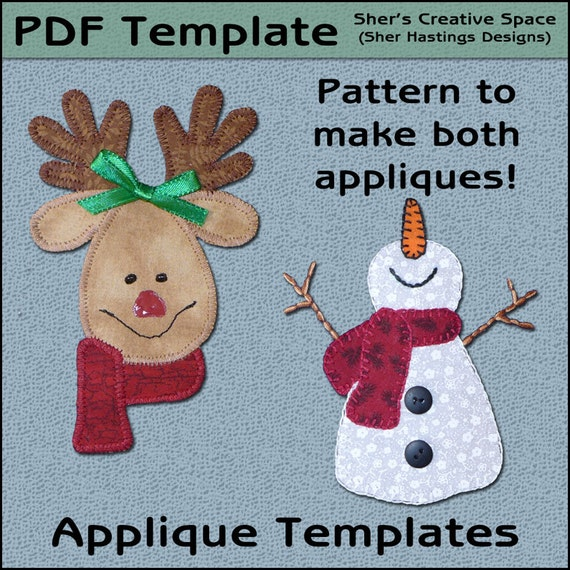 Christmas Sew On Appliques