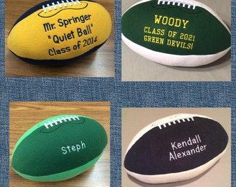 Embroidered Plush Football *new prints and fonts*