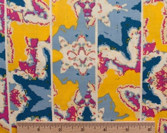 Design Loft freespirit fabric Kaleidoscope Shift PWFS007 Yellow blue white abstract sewing quilting 100% cotton fabric by the yard