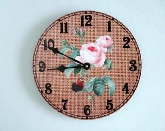 Wall Clock Buffalo Plaid Rustic Wall Clock By