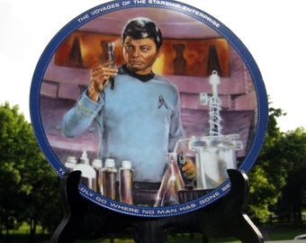 Star Trek Collectible Plate Dr. McCoy