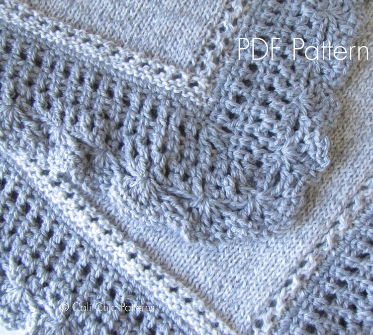 Knit Baby Blanket PATTERN 71 Royal Knitting By