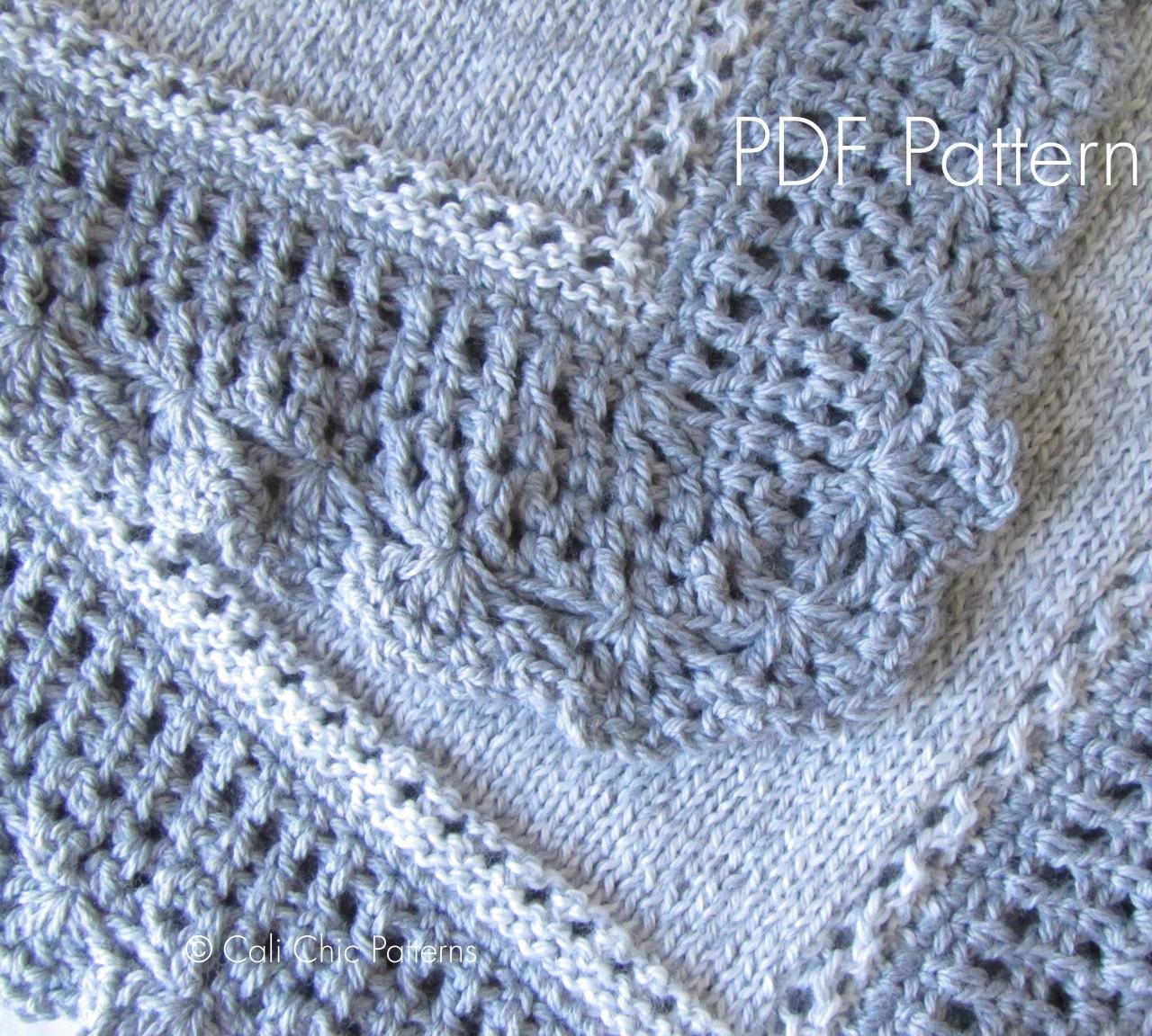 Knit Baby Blanket PATTERN 71 Royal Knitting By