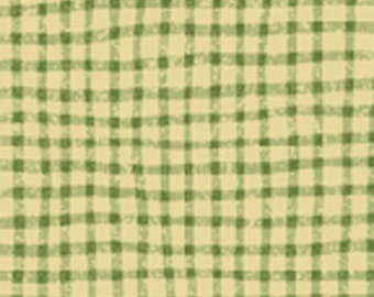 SUPER CLEARANCE!! One Yard Tried and True - Mini Check in Willow Green - Cotton Quilt Fabric - by Nancy Halvorsen - Benartex Fabrics (W713)