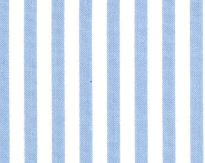 Fat Quarter Jubilee - Stripe in Blue - Cotton Quilt Fabric - from Bunny Hill Designs for Moda - 2848-19 (W1346)