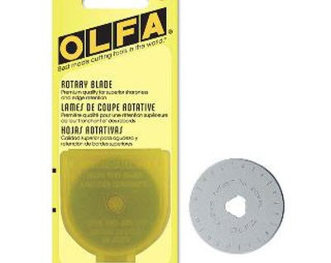 OLFA Rotary Blade (1) - Circular Rotary Replacement Blade for RTY-2/G 45mm Rotary Cutter (W1445)
