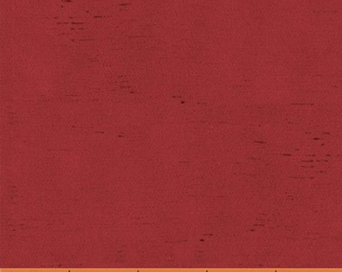 Half Yard Let Us Give Thanks - Linen Texture in Red - Cotton Quilt Fabric - by Kate McRostie for Windham Fabrics (W2184)