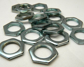 Stainless Steel Washers, Industrial Jewelry Making Supplies, 6 Loose Silver Metal Washers, Destash Washers, Steampunk Washer Supply (S609)
