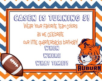 Auburn War Eagle Birthday Invitation