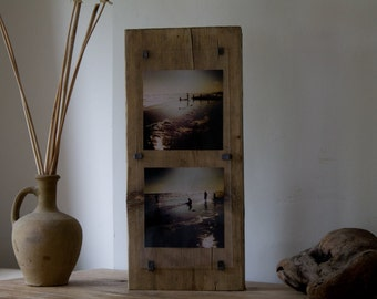 Gifts for surfers - reclaimed wood photo frame - one of a kind - photo wood block - Surf wood art - surf decor - wood photo frame - OOAK