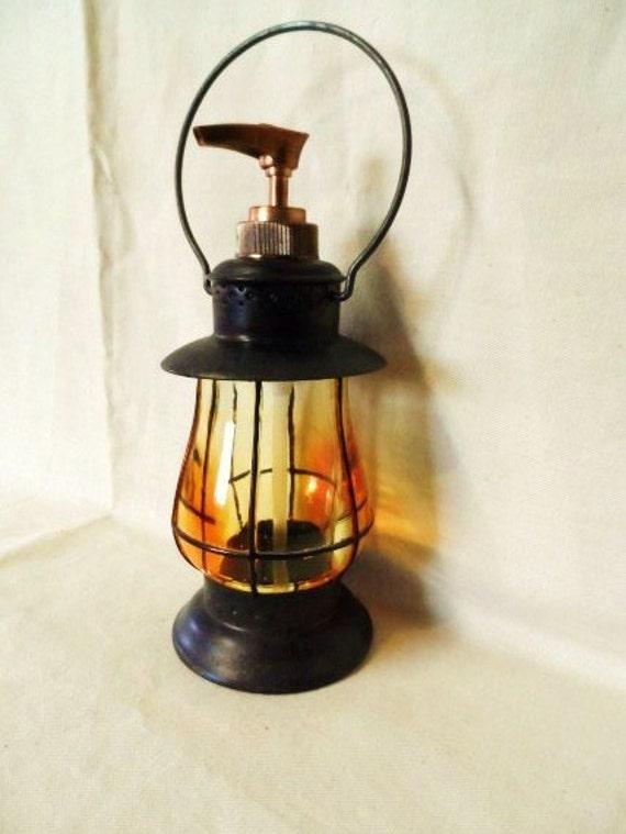 Vintage Lantern Style Soap Dispenser Soap Pump By Orphanedtreasure