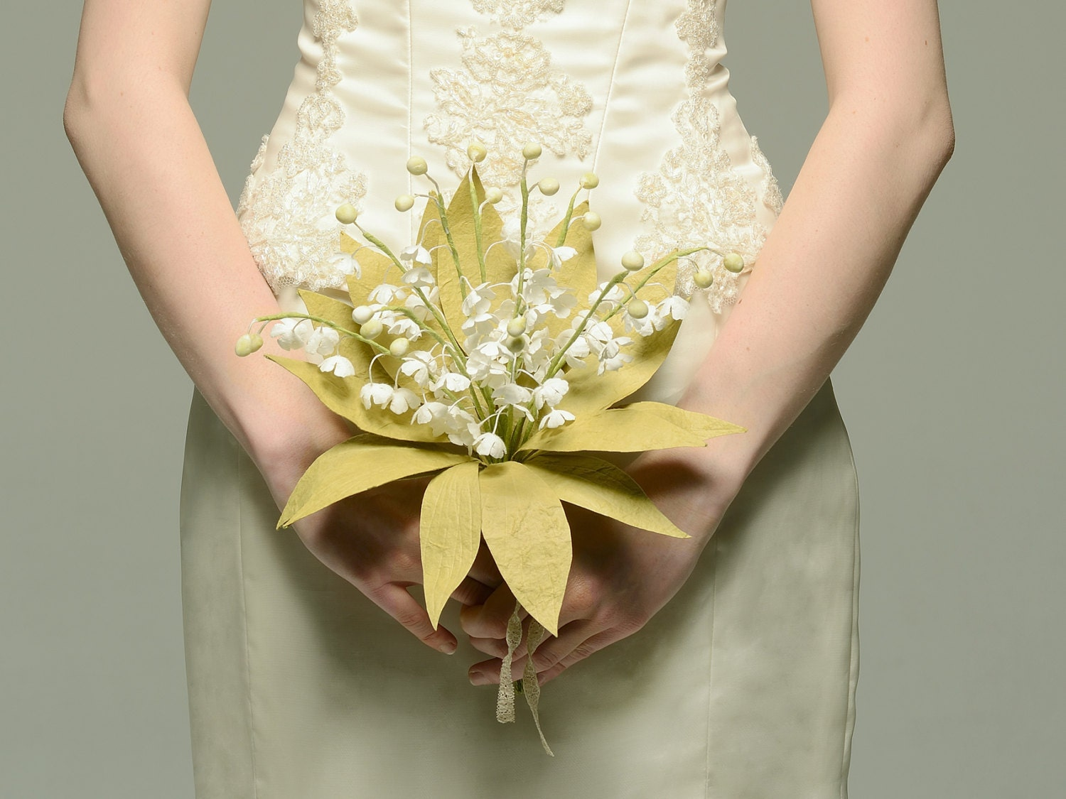 Lily Of The Valley Paper Bridal Bouquet Keepsake Royal