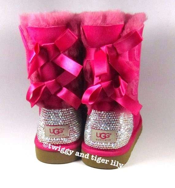 cheap pink uggs with bows