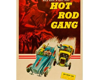 Hot Rod Gang Movie Ad Wall Decal #48331