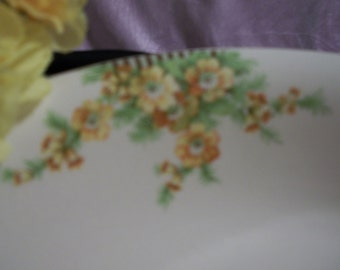 Vintage Serving Dish w/ yellow flowers