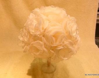 Wedding Bouquet, Bridal Bouquet, Keepsake Bouquet, Fabric Bouquet, Ivory Bouquet,
