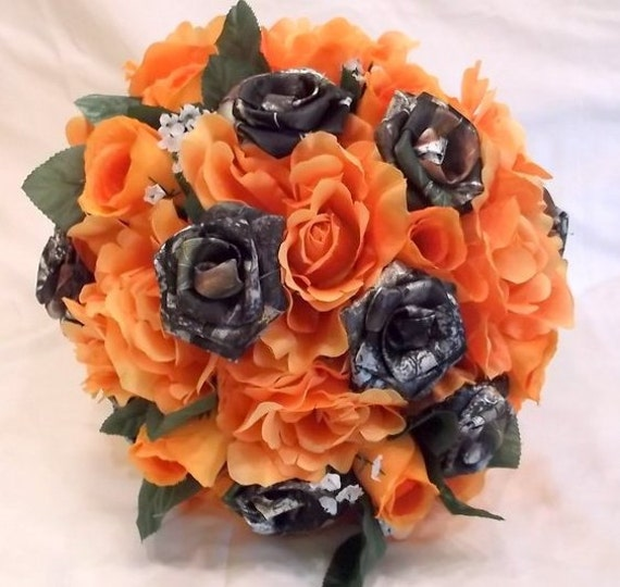 Bien connu Camo Fall Bouquet Camo Wedding Bouquet Bridal Bouquet Mossy TS02
