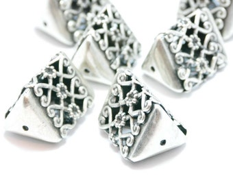 1 Piece Silver Filigree Jewelry Connector, Filigree Jewelry Spacer, Jewelry Findings