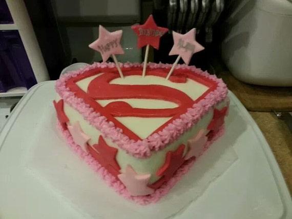 Supergirl Superman Fondant Cake Decorating Set