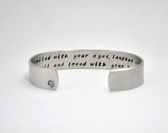 Pet loss bracelet / Pet memorial gift / Pet Sympathy Gift / Pet lover Gift / Gifts under 30/ Unique Gift ideas / Gifts for Dog lovers /