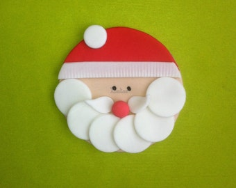 12 Edible Santa Claus Cupcake/cookie Toppers