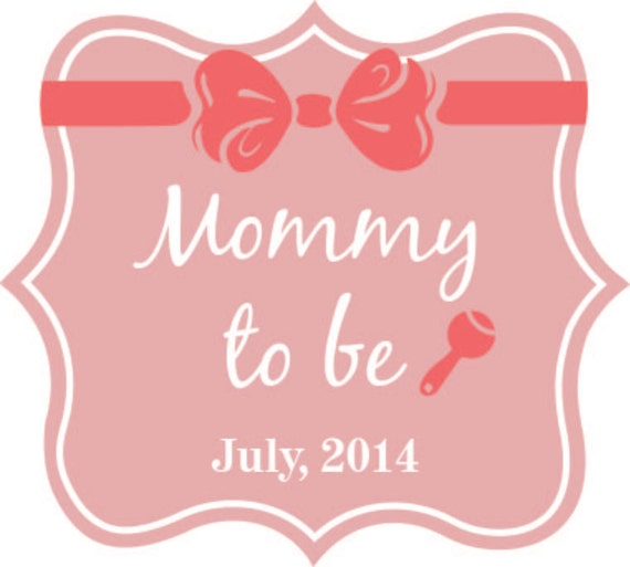 100 mommy to be vinyl labels 2 inch burst stickers. Black Bedroom Furniture Sets. Home Design Ideas