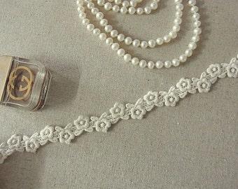 3 yards Vintage style Cotton Crochet Lace Trim #004