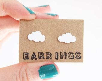 Earrings: Little Clouds
