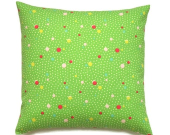 Green Pillow, 18x18 Pillow Cover, Throw Pillow, Decorative Pillow, Pillow Covers, Pillows, Home Decor, Cushion Covers, Deco Dots