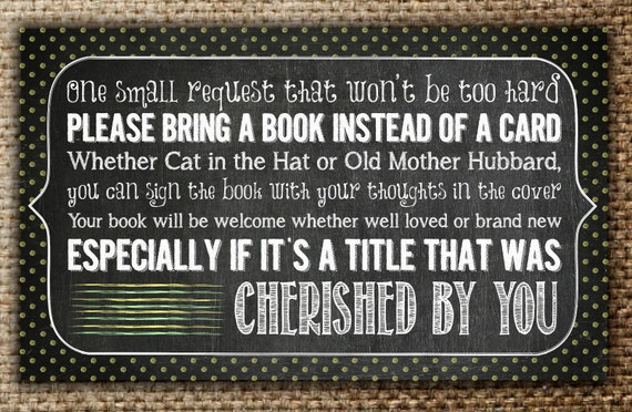 Items Similar To Book Request Inserts : Matches Baby Shower Chalkboard  Invite On Etsy