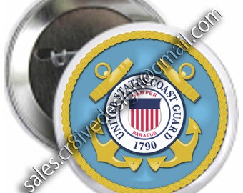 Coast Guard 2.25 inch  button