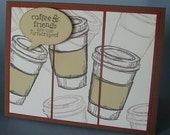 Coffee and Friends greeting card FREE Shipping