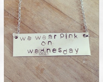 We Wear Pink on Wednesday Mean Girls Necklace