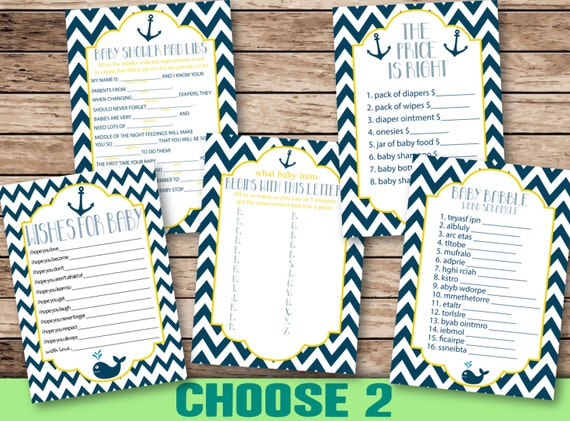 Baby Shower Printable Games, CHOOSE TWO from Mad libs, wishes for baby ...