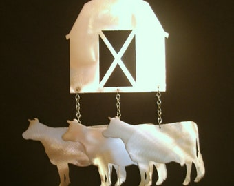 Barn and Cows Wind Chime