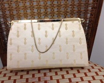 1950s Vintage Bags By Edwards reversible clutch purse bag