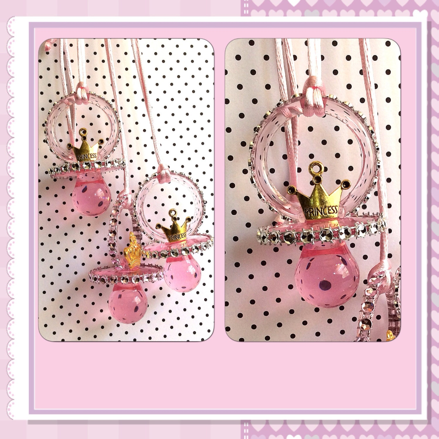 12 little princess baby shower pacifiers by marshmallowfavors