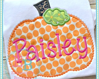 Dotted Pumpkin Applique - This design is to be used on an embroidery machine. Instant Download