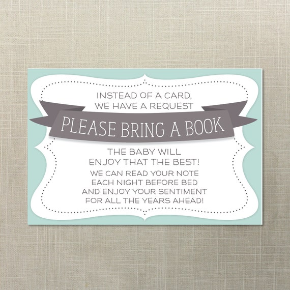 instant download baby shower book request baby shower invite