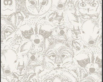 Indian Summer by Sarah Watson / Menagerie Timberwolf / Art Gallery Fabrics
