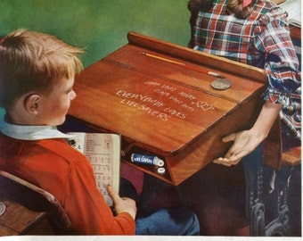 Great Life Savers Ad from 1949, Awesome Vintage School Room Scene. FREE SHIPPING on ad purchases of 12.00 or more.