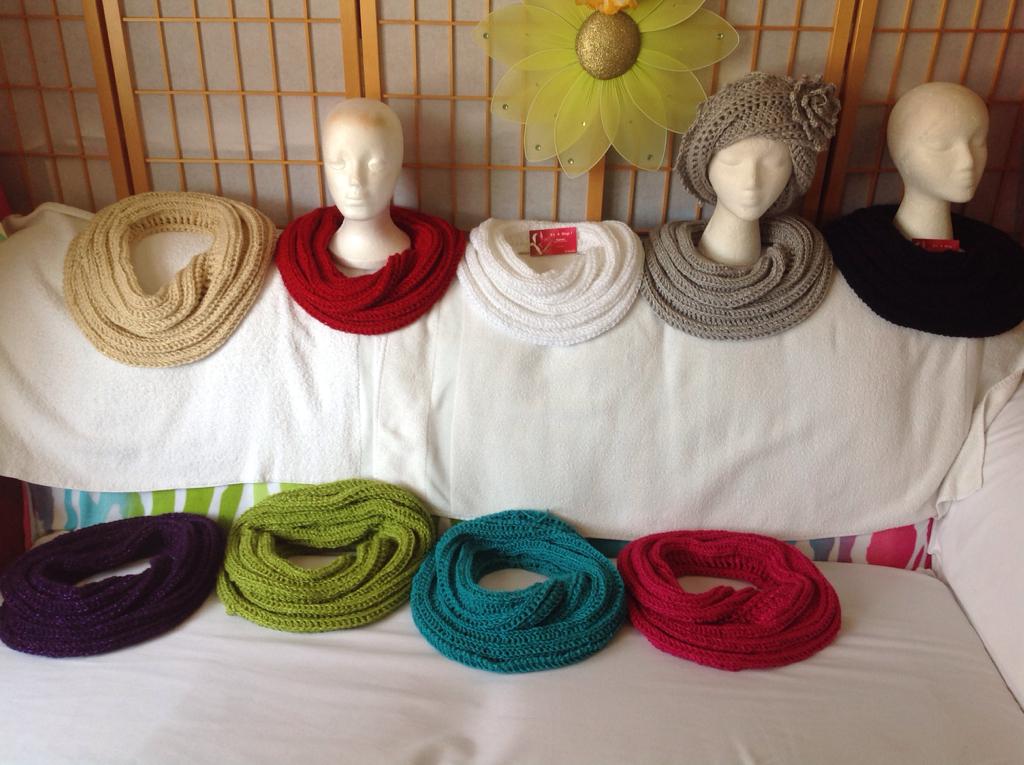 Crochet SNAKE Infinity Scarves