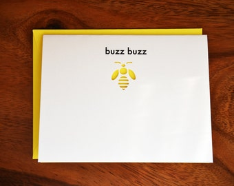 Buzz Buzz Bee Cut Out Card